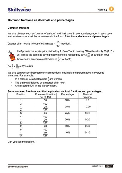 printable worksheets 187 comparing fractions decimals and