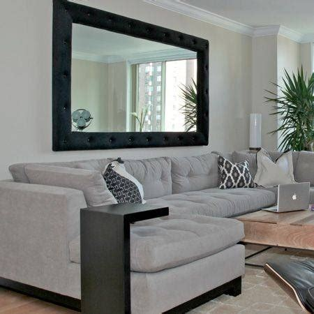 large mirrors  living room wall