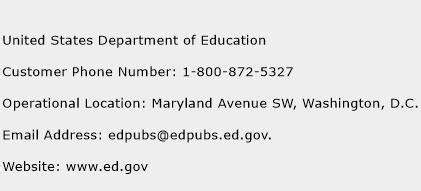 department of education phone number united states department of education customer service