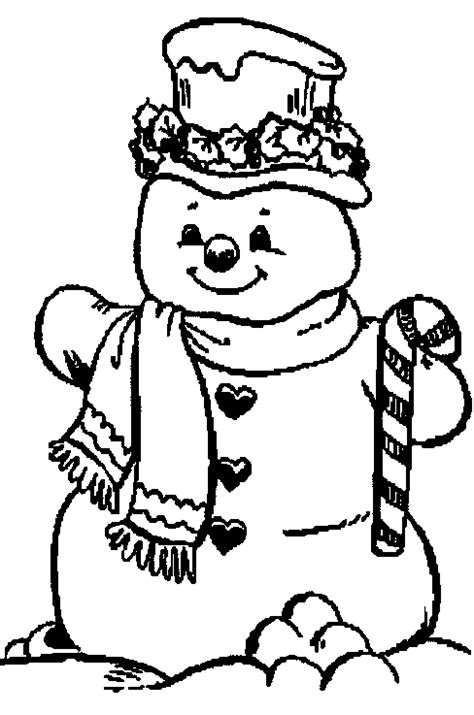 Sneeuwman Kleurplaat Simpel by Kleurplaten Kerst
