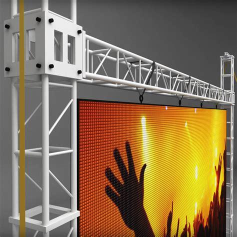 telebim scaffolding led screen high  kratura docean