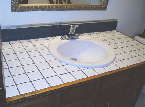 tile bathroom countertop ideas how to turn your tile counter top in to faux sandstone