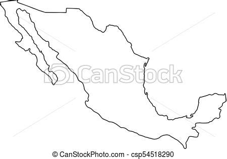 mexico map icon cartoon isolated  white background