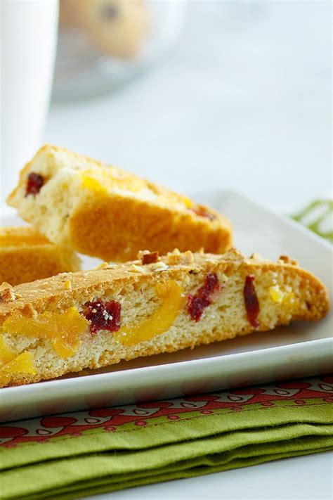 I followed the directions as stated except for the second baking. Cranberry Apricot Biscotti : Apricot Orange Almond ...