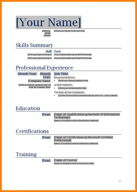 cv  word document theorynpractice