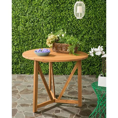 Safavieh Dining Table by Safavieh Cloverdale Teak Outdoor Patio Dining Table