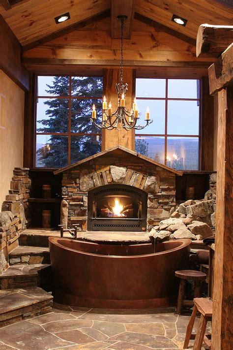 charming  natural rustic bathroom design ideas