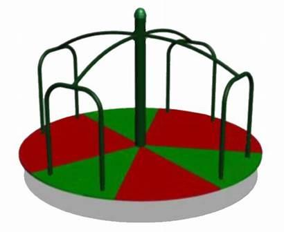 Clip Clipart Playground Round Merry Swing Cartoon
