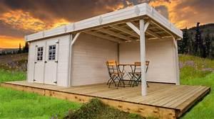 Abri De Jardin Avec Pergola : abri de jardin bois monopente kemper avec pergola 7x4m ~ Dailycaller-alerts.com Idées de Décoration