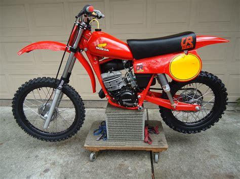 restored vintage motocross bikes for sale image gallery 1980 honda cr 125