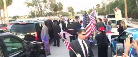 donald trump fan club donald trump stops motorcade exits his vehicle to greet
