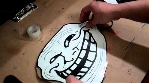 Troll Meme Mask - how to make a trollface mask youtube