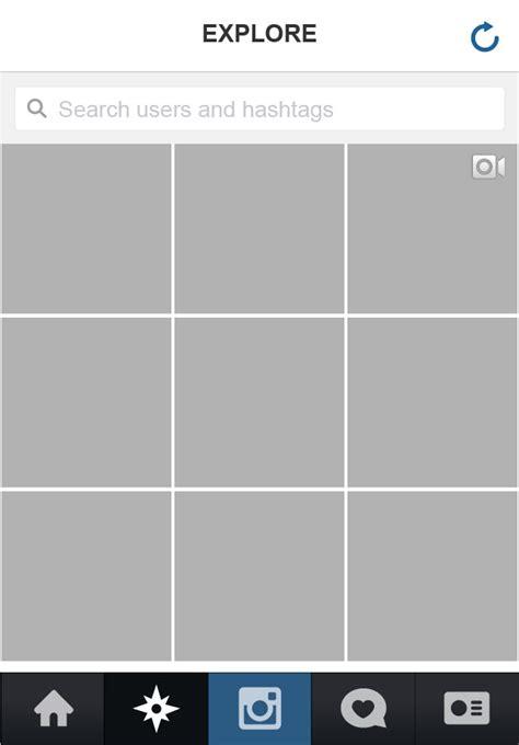 instagram grid template instagram app complete vector ui
