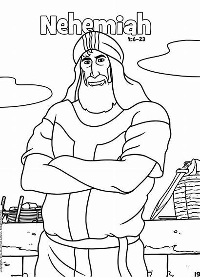 Coloring Nehemiah Bible Pages Books Activities Activity