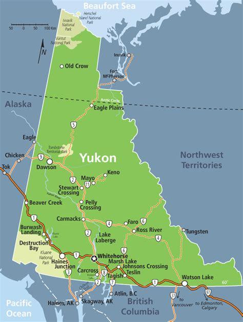 yukon map yukon yukon canada yukon map yukon alaska