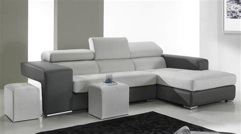 canapé angle gauche pas cher canapé d 39 angle en cuir noir et blanc pas cher canapé