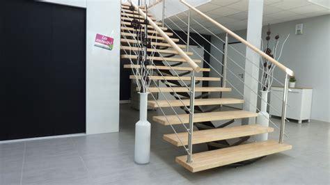 escalier bois et inox escalier bois inox brest landerneau escaliers sur mesure