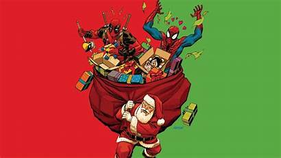 Deadpool Christmas Fan Spiderman Spider Wallpapers Spoilers