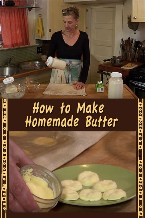 How To Make Homemade Butter From Farm Fresh Milk (video