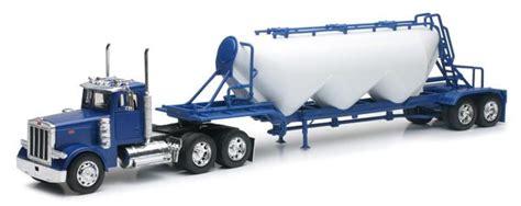 scale blue peterbilt  pneumatic trailer model