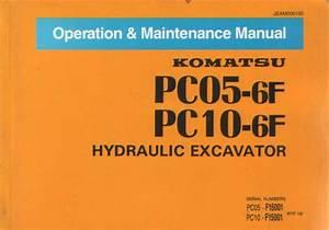 Komatsu Hydraulic Excavator Pc05 - 6f  U0026 Pc10