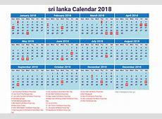 Sri lanka calendar 2019 Download 2019 Calendar Printable