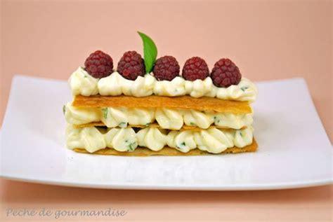 dessert avec des pates millefeuille de p 226 te filo cr 232 me citron basilic et framboises p 233 ch 233 de gourmandise