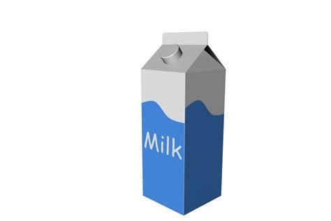 milk carton cinema4d milk
