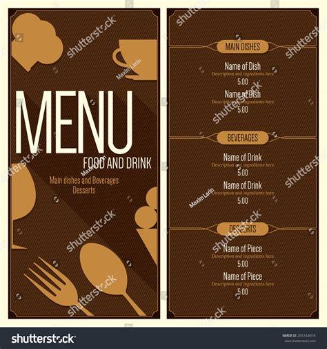 7,000+ vectors, stock photos & psd files. Restaurant Menu Design Vector Menu Brochure Stock Vector ...