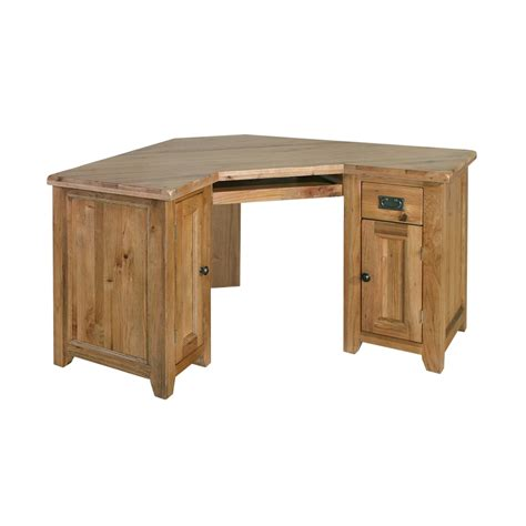 solid wood small corner desk tuscany solid oak furniture office corner computer pc desk