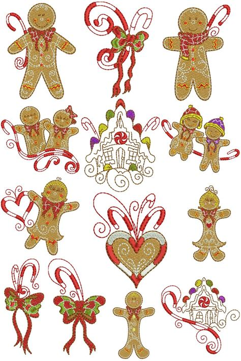 Gingerbread Family | Machine Embroidery Designs By Sew Swell