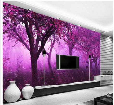 large wallpaper custom wallpaper purple fantasy forest