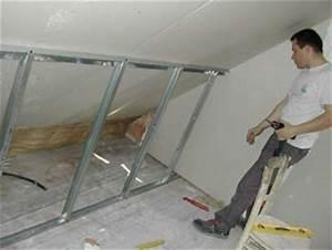Doubler Un Mur En Placo Sur Rail : placo et isolation dans la chambre suite notre maison chantier jour apr s jour ~ Dode.kayakingforconservation.com Idées de Décoration
