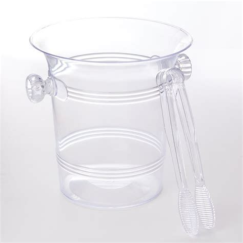 Clear Acrylic Ice Bucket and Tongs   Kitchen Utensils