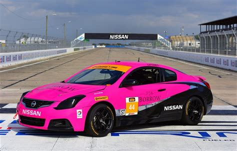 nissan maxima race car crg nissan altima coupe takes part in continental tire