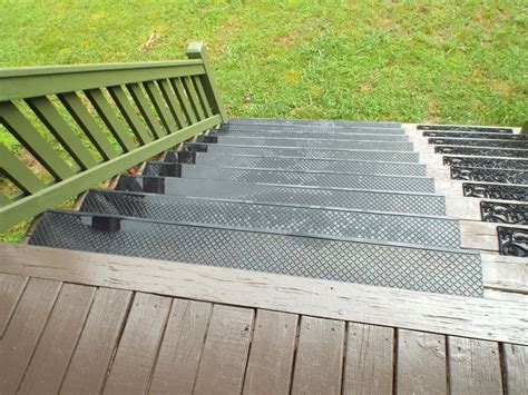 add outdoor stair treads  prevent wood steps