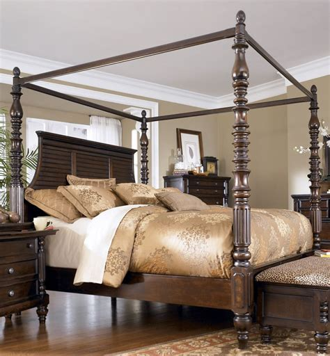 ashley bedroom set key town king size canopy bed