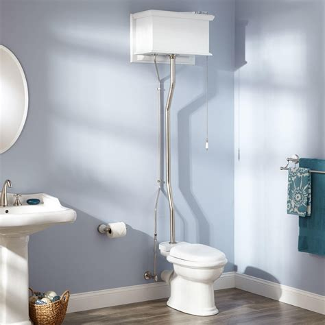 Water Closet Media by White High Tank Pull Chain Water Closet With Rear Outlet