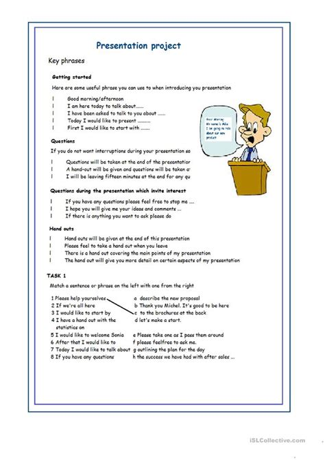 Presentation Project Worksheet  Free Esl Printable Worksheets Made By Teachers