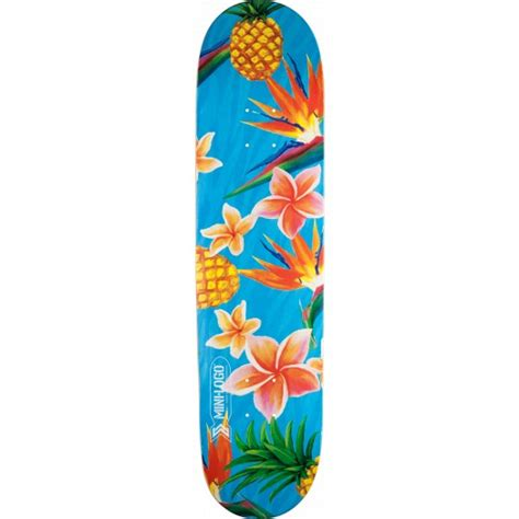 mini logo small bomb skateboard deck 250 aloha 8 75 x 33