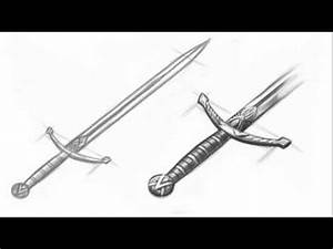 How to Draw a Medieval Sword - YouTube