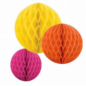 Boule En Papier Crepon : boule alv ol e en papier jaune ~ Dode.kayakingforconservation.com Idées de Décoration