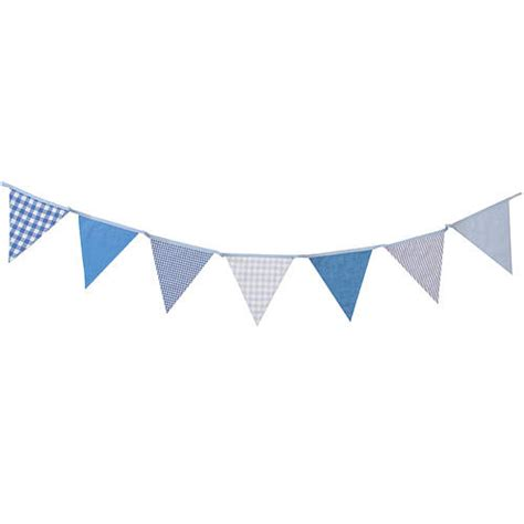 shades of blue cotton bunting by the cotton bunting