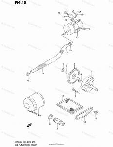 Suzuki Motorcycle 2002 Oem Parts Diagram For Oil Pump    Fuel Pump