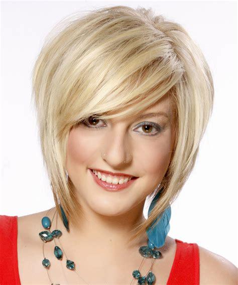 Short Straight Layered Light Platinum Blonde Bob Haircut