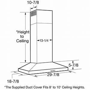 Zv830smss - Monogram 30 U0026quot  Wall-mounted Vent Hood