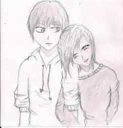 Cute Anime Couple Drawings Easy