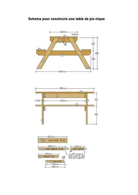fabriquer une table de fabriquer sa propre table de pique nique pour les makers