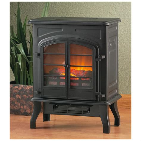 electric fireplace stove castlecreek electric stove heater 227152 fireplaces at