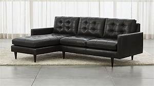 Petrie leather 2 piece left arm chaise sectional sofa for Elena leather 2 piece sectional sofa sofa chaise